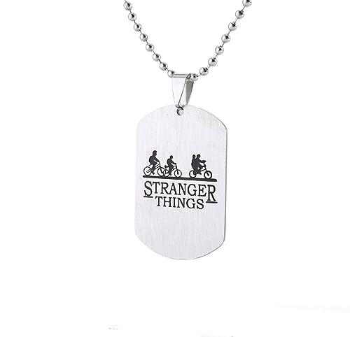 Blerameng Stranger Things - Collar con Etiqueta para ...