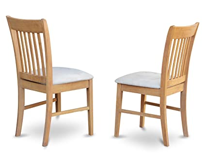 east west furniture nfc oak c kitchendining chair set with cushion seat - Oak Kitchen Chairs