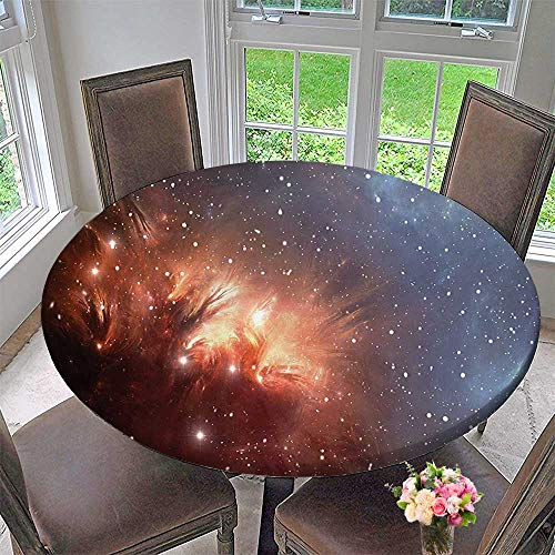 Mikihome Chateau Easy-Care Cloth Tablecloth Detailed Image of Nebula Cloud Gas and Star Dust Universe Astronomy Print Burnt for Home, Party, Wedding 63