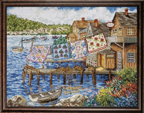 Design Works Crafts Tobin 4272 Dockside Quilts Counted Cross Stitch Kit-12
