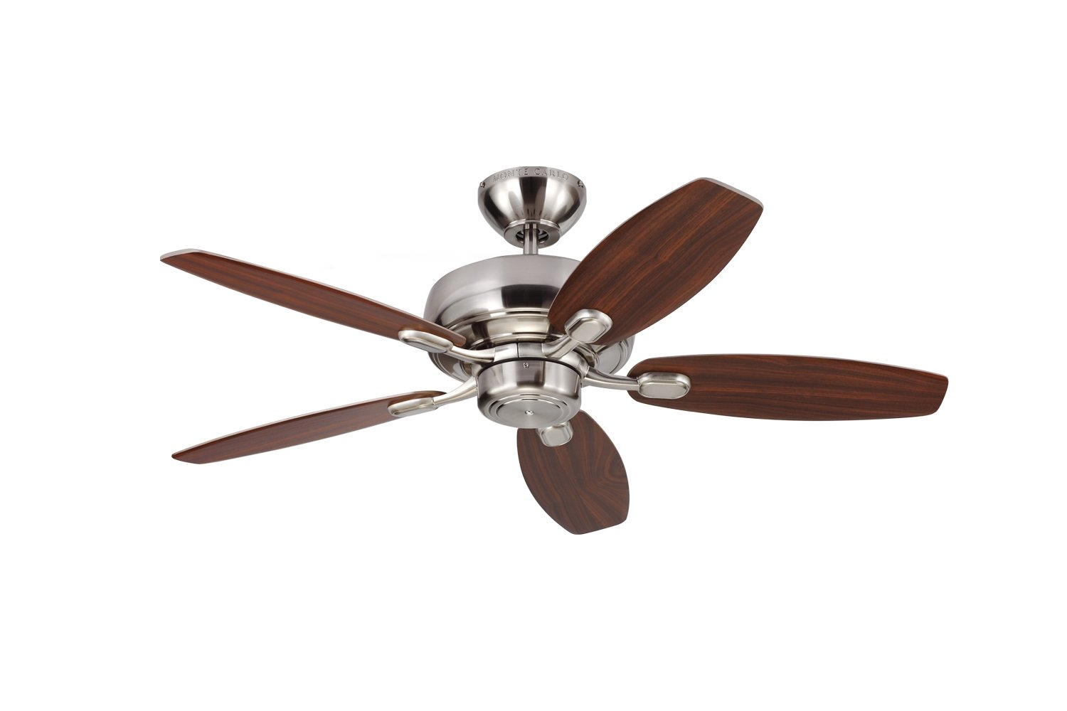 Monte Carlo 5CQM44BS Centro Max II Ceiling Fan, 44'', Brushed Steel