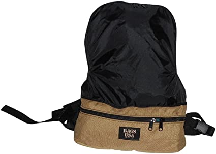 Backpack//fanny pack convertible top portion folds inside 2-in-1 Expandable waist