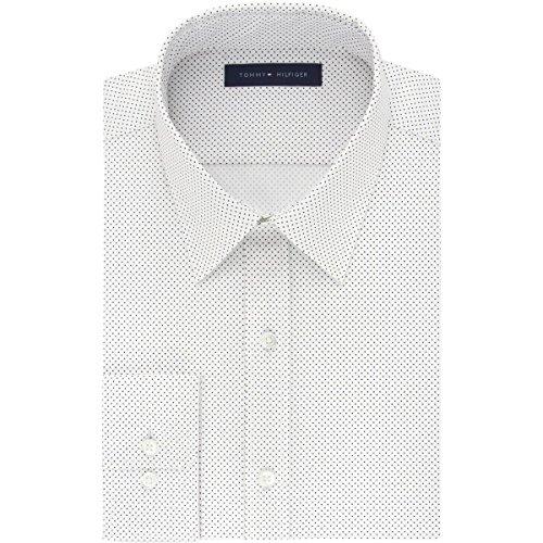77c06d67 Tommy Hilfiger Mens Athletic Fit Flex Button Up Dress Shirt   Weshop ...
