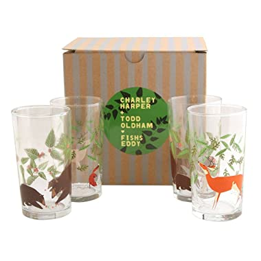 Charley Harper Great Outdoors Glasses Set of 4 by Todd Oldham