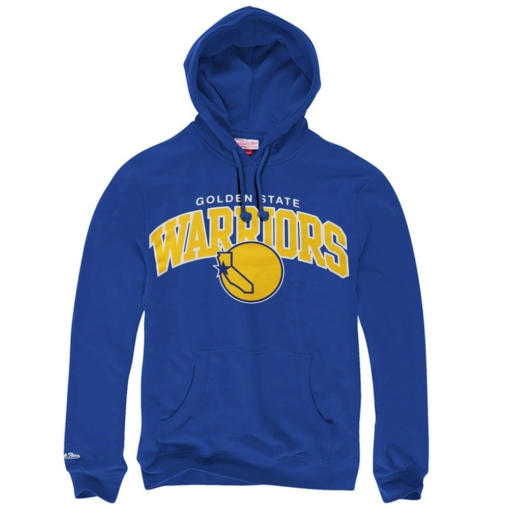 Mitchell /& Ness Golden State Warriors Team Arch Hoody Hoodie Sweater Mens