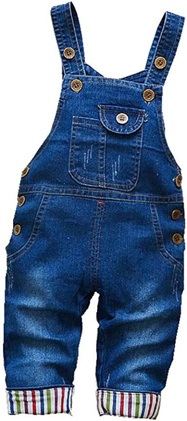 Amazon.com: BibiCola Baby Boys/gilrs Overall Newborn Toddler Adjustable  Denim Overalls: Clothing