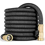 MIUO Garden Water Hose 50FT Leak-Proof Flexible Lightweight Expandable Garden Hose Double Latex Core Strength Fabric Brass Threading Connector Heavy Duty Water Hose for Lawn Garden Irrigation Car Wash