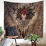 Onnekas Hippie Wall Decor Hanging, Boho hippie decor, Dreamcatcher Hippie Tapestry,Animal Tapestry 59''x78.7''