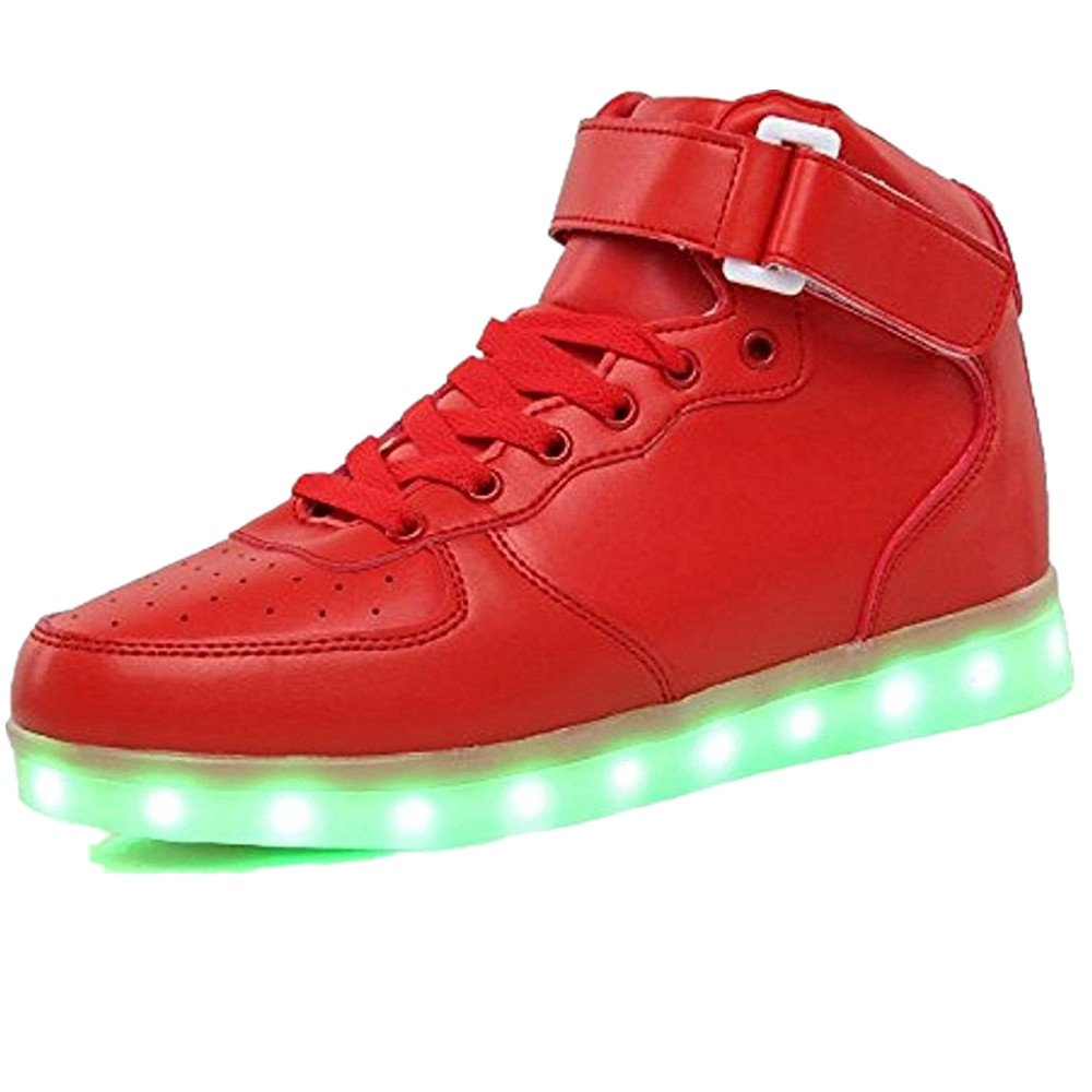 Light Up Shoes for Children Led Boots Usb Charge Basket Led Sneakers with Flashing Lights Kids