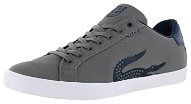 Lacoste Men's Grad Vulc TSPP Fashion Sneaker, Dark Grey/Dark Blue, ...