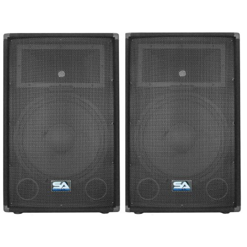 Seismic Audio - Pair of 15'' PA DJ Speakers 700 Watts PRO Audio - Mains, Monitors, Bands, Karaoke, Churches, Weddings