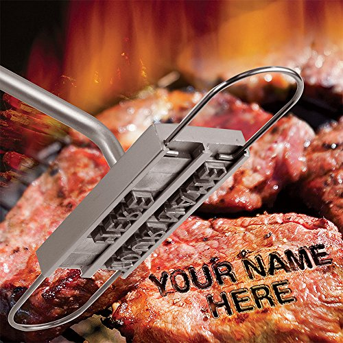 willway BBQ Meat-Branding Iron with a Set of Letters Barbecue Steak Names Tool For Grilling