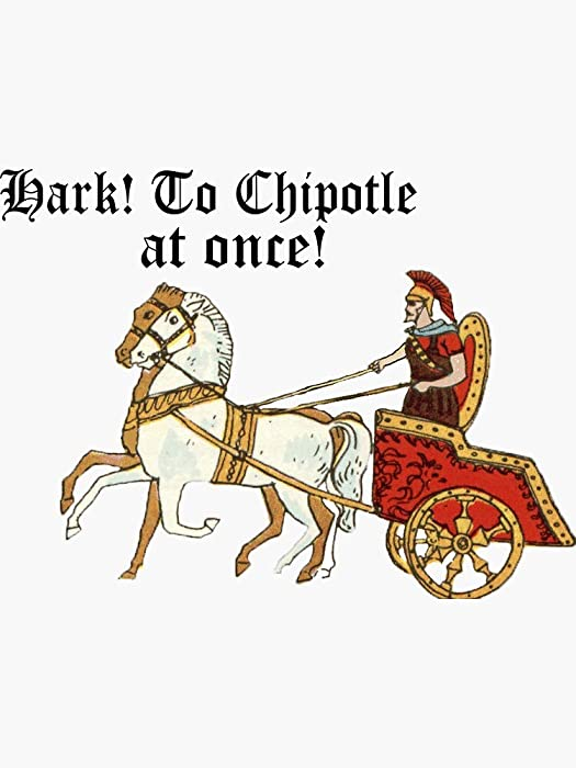 Hark! to Chipotle! Sticker - Sticker Graphic - Auto, Wall, Laptop, Cell, Truck Sticker for Windows, Cars, Trucks