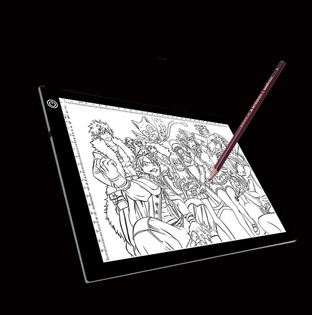Con Mesa De Copia De Escala A4 LED L/ámpara De Ojo Anime Tablero De Pintura Mesa De Luz De Transmisi/ón Placa De Luz A Trav/és De Escritorio