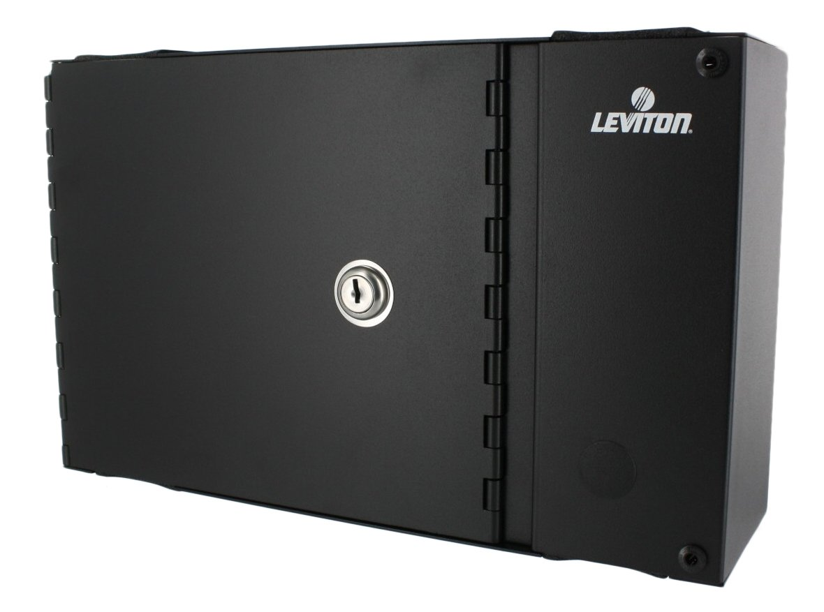 Leviton 5W120-N Small Wall Mount Enclosure, Empty with Split Metal Door and One Lock/Key by Leviton B003AU7G36