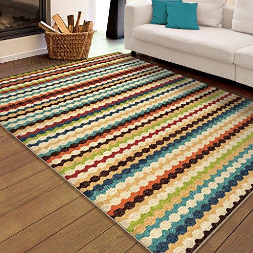 Orian Rugs Stripes Nik Nak Multi Area Rug (5'2