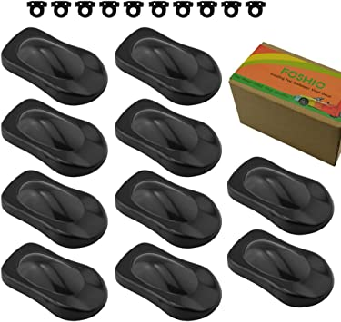 Pack of 10PCS Vinyl Graphics and Wrap Tools FOSHIO Car Vinyl Display Model with Small Hook Plastic Speed Shapes for Car Vinyl Wrap and Paint Color Sample