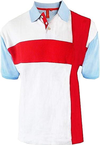 Adultos Polo Bandera Inglaterra Vintage Retro San Jorge Fútbol ...