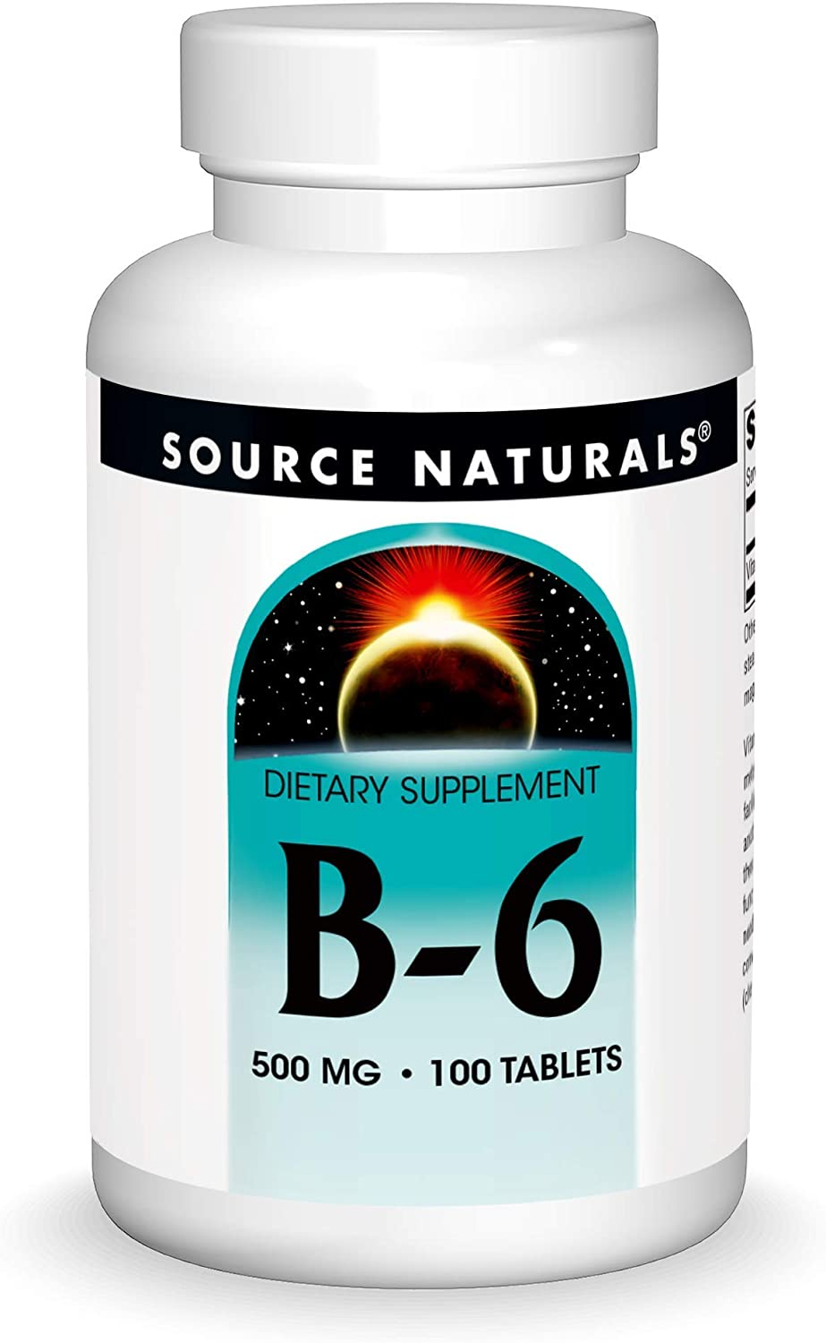 Source Naturals Vitamin B-6, 500 mg Immune System Support - 100 Tablets: Health & Personal Care