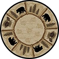Dean Toccoa Bear Lodge Cabin Carpet Area Rug Size: 53 Round