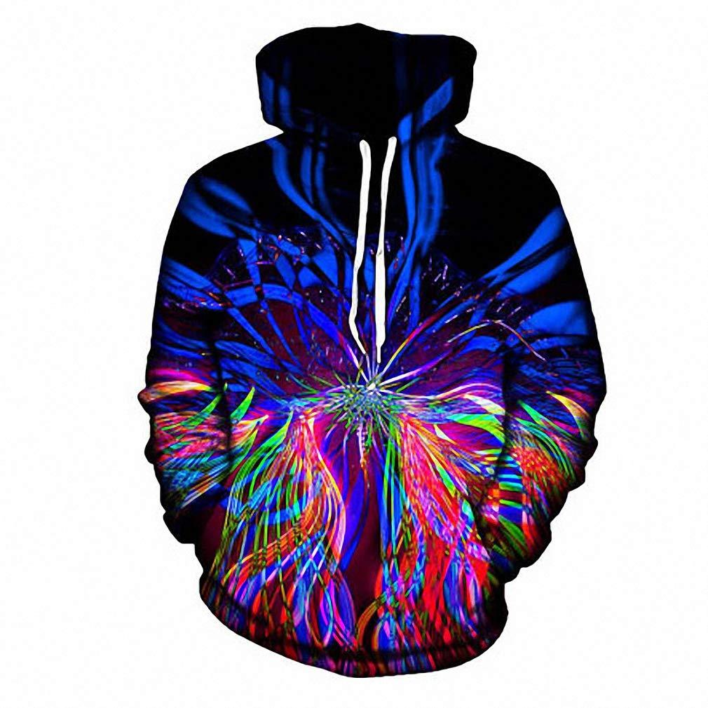 Psychedelic Hoodie Light Show Trippy Raver Wear Art Print Hoodies Sweatshirt