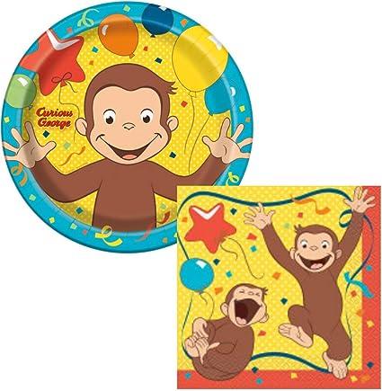 Amazon.com: Curious George Fiesta de cumpleaños suministros ...