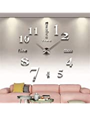 Modern Large 3D Wall Clock Numbers Letters DIY 3D Stickers Clock Office Home Decor Gift