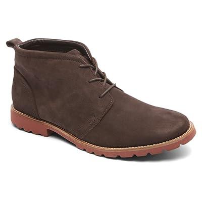 Rockport Men's Sharp & Ready Charson Boot, Dark Bitter Chocolate/Brick Suede, US 7 | Boots