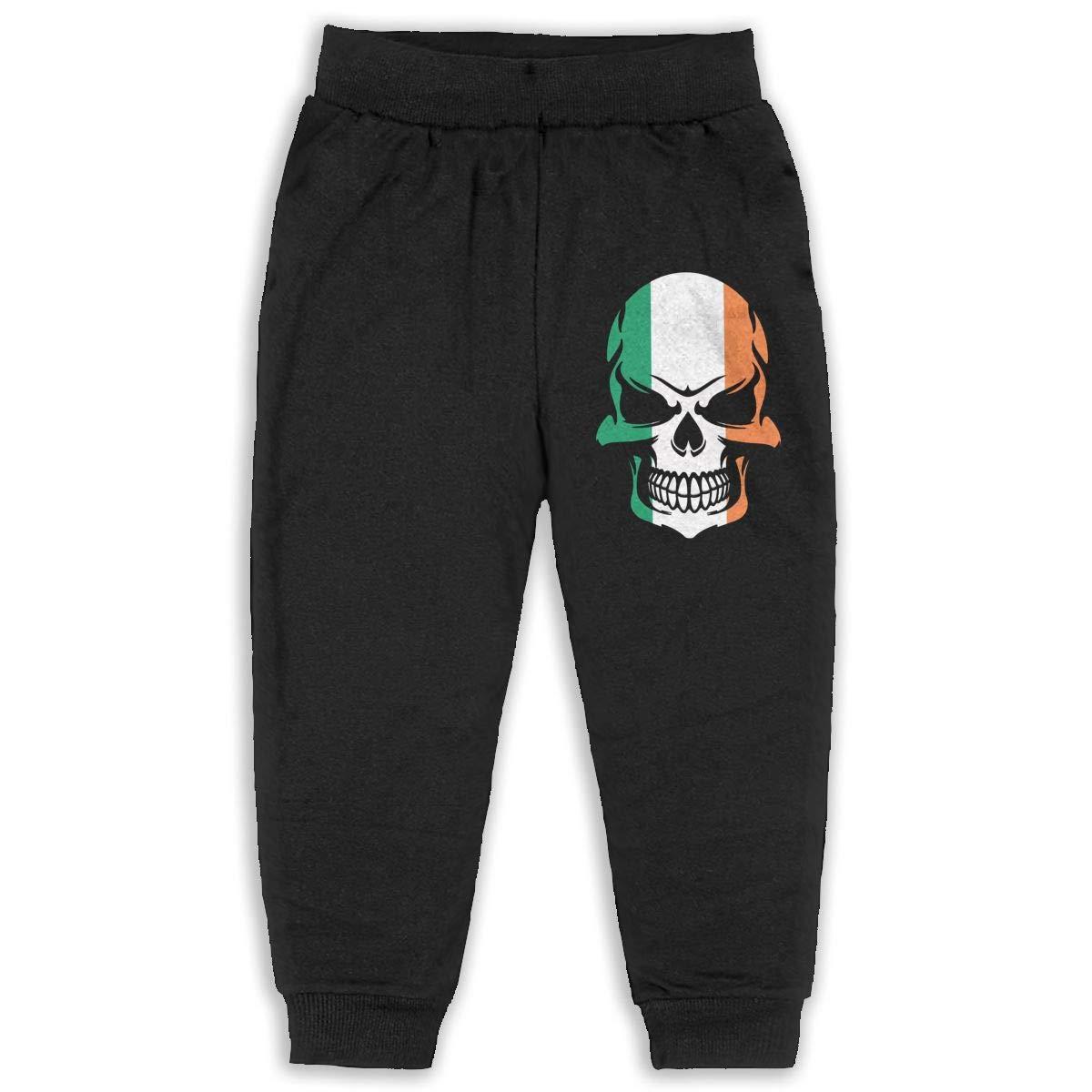 DaXi1 Skull Sweatpants for Boys /& Girls Fleece Active Joggers Elastic Pants