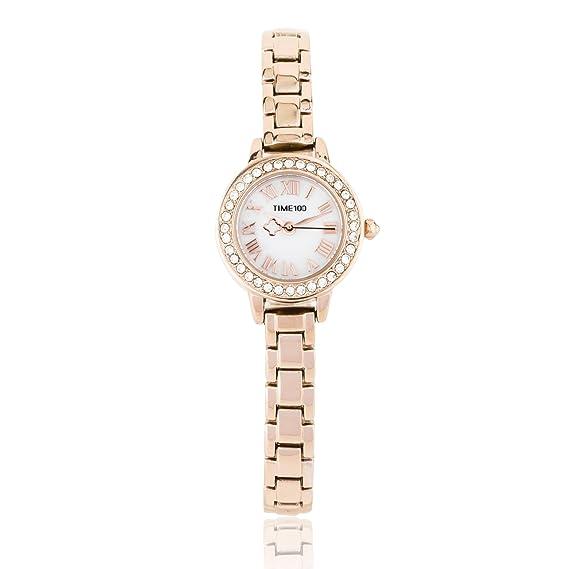 Time100 Reloj de Cuarzo para mujer de Cadena reloj fino y elegante para Chica