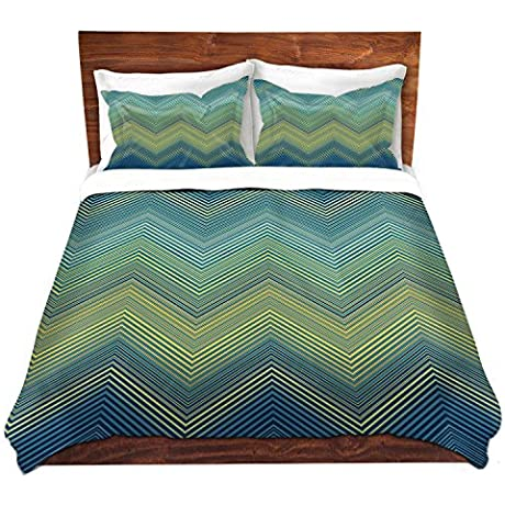 DiaNoche Designs Microfiber Duvet Covers Christy Leigh Teling Zig Zag