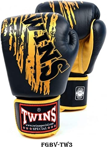 Twins Special Fancy Boxing Gloves FBGV-49 12oz Black//Gold