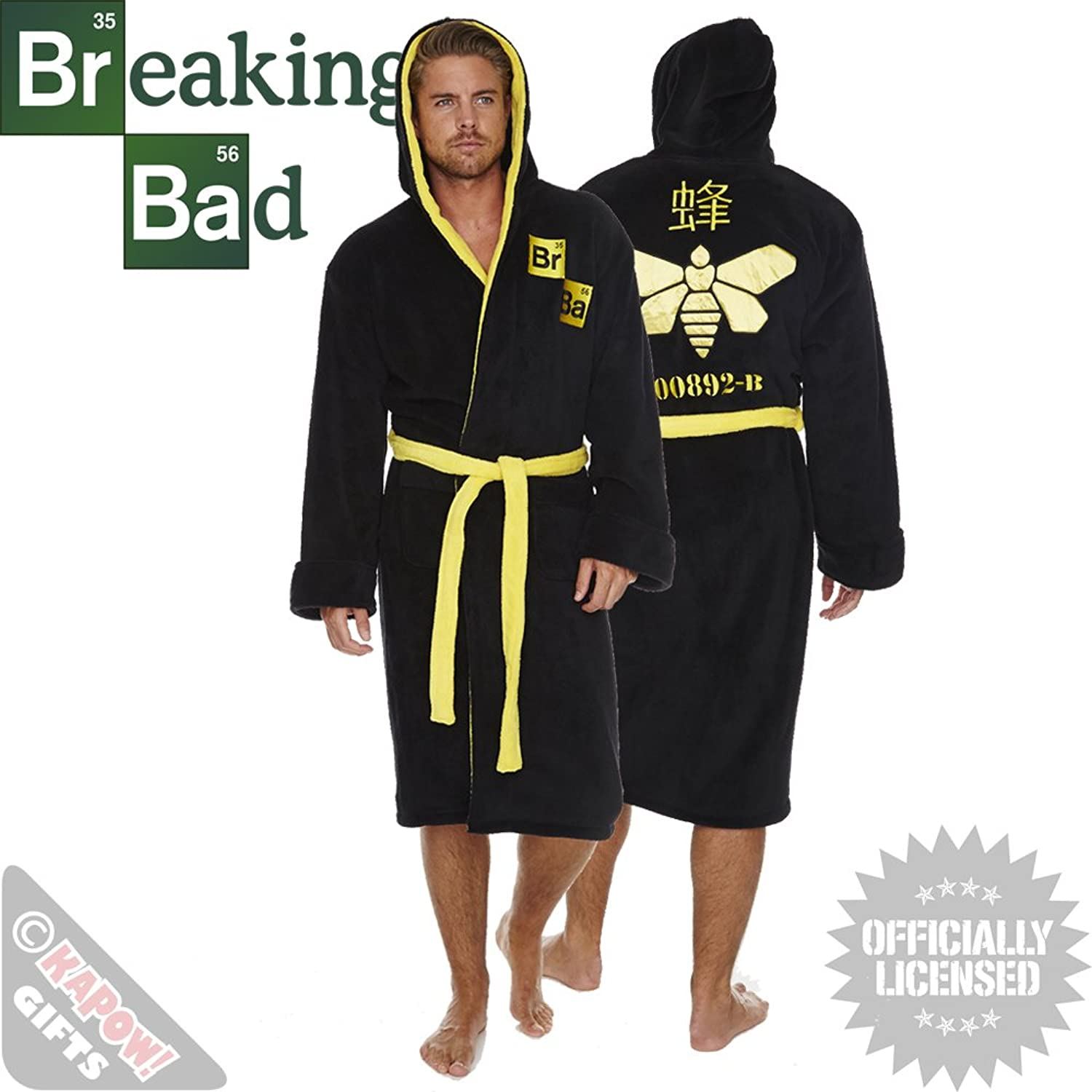 Breaking Bad Fleece Robe - Novelty Walter White Dressing Gown Cool ...