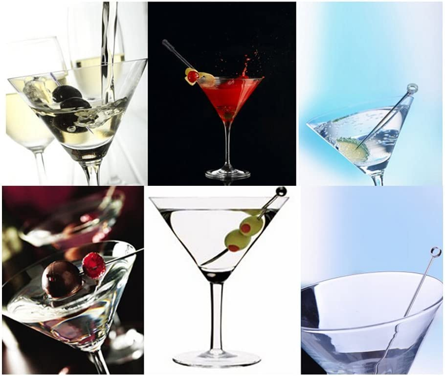 12 CellCase Stainless Steel Martini Glass Picks Cocktail Appetizer Pick