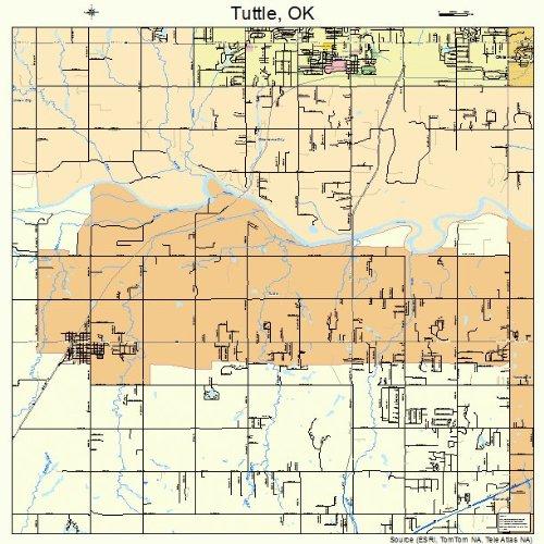 Amazon Com Large Street Road Map Of Tuttle Oklahoma Ok Printed
