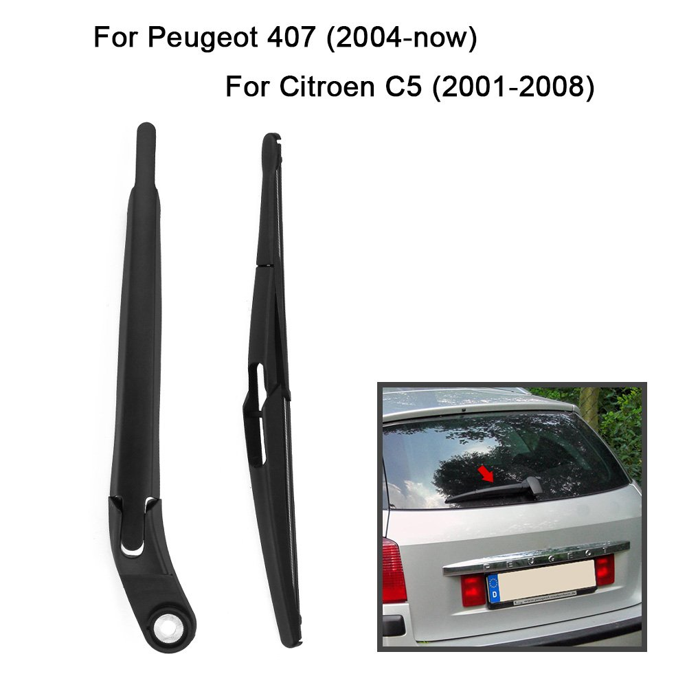 KKmoon - Limpiaparabrisas para luna trasera. Juego de brazo y escobilla para Vauxhall / Opel Zafira B MK2 de los años 2005 a 2011, juego completo de ...