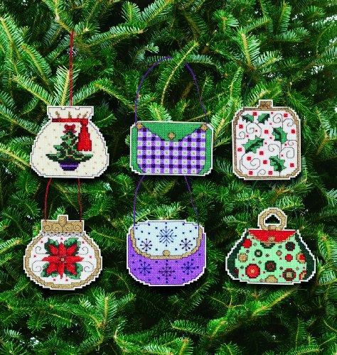 Cross Stitch Kit Set - Janlynn Counted Cross Stitch Kit, Christmas Handbag Ornament Set