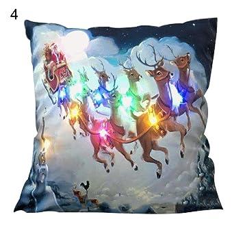 Amazon.com: Llama Aves luces LED Navidad Funda De Almohada ...