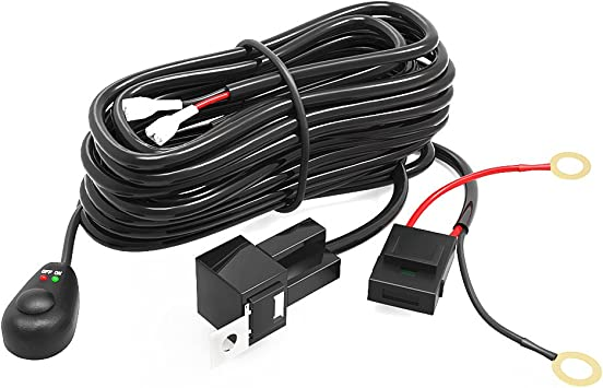 Amazon.com: YITAMOTOR LED Light Bar Wiring Harness with Fuse Relay On&Off  Switch for Light Bar Fog Lights Compatible for ATV, SUV, Jeep, Pickup, LED  Light Up to 300W 12V 40A (9ft.): AutomotiveAmazon.com