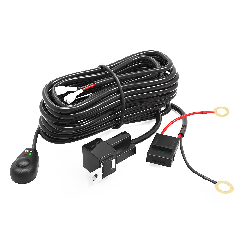 Led Light Bar Yitamotor Wiring Harness With Fuse Relay On 12 Volt Fog Lamp Diagram Off Switch For