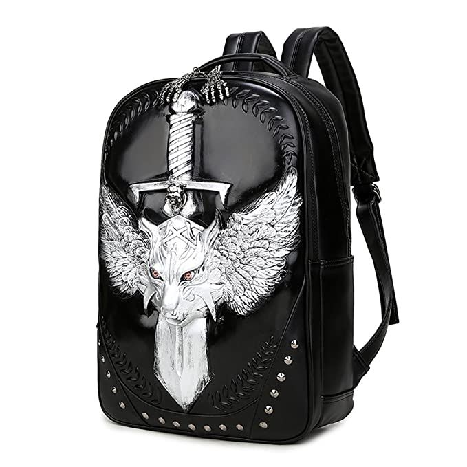 99daf577f71d Amazon.com  Pattistore Punk Style 3D Animal Wolf Backpack School Bag Daypack  Laptop Bag Big Backpacks For Teen Girls Boys  Toys   Games