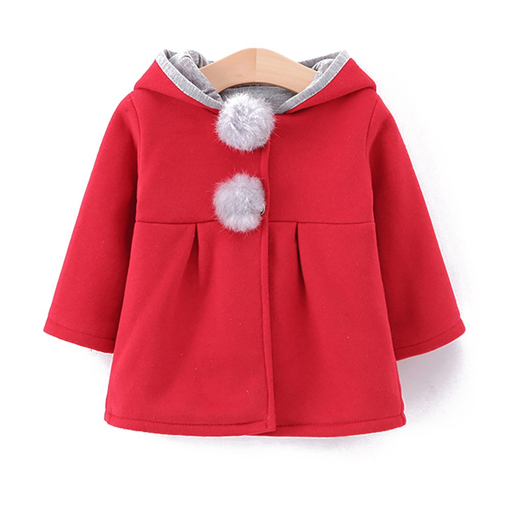 Motteecity Fashion Girls Cute Bunny Style Fall Winter Long Ears Decor Hoody