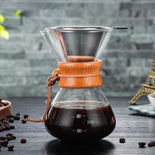 KOIYOI Cafetera Espresso clásica Estilo Embudo Verter sobre la ...