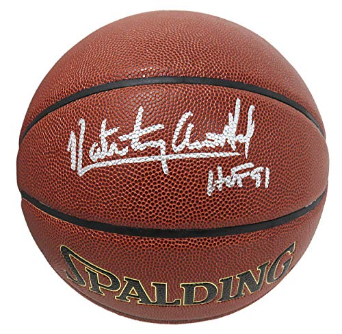 Nate 'Tiny' Archibald Signed Spalding NBA Indoor/Outdoor Basketball w/HOF'91 - Autographed Basketballs