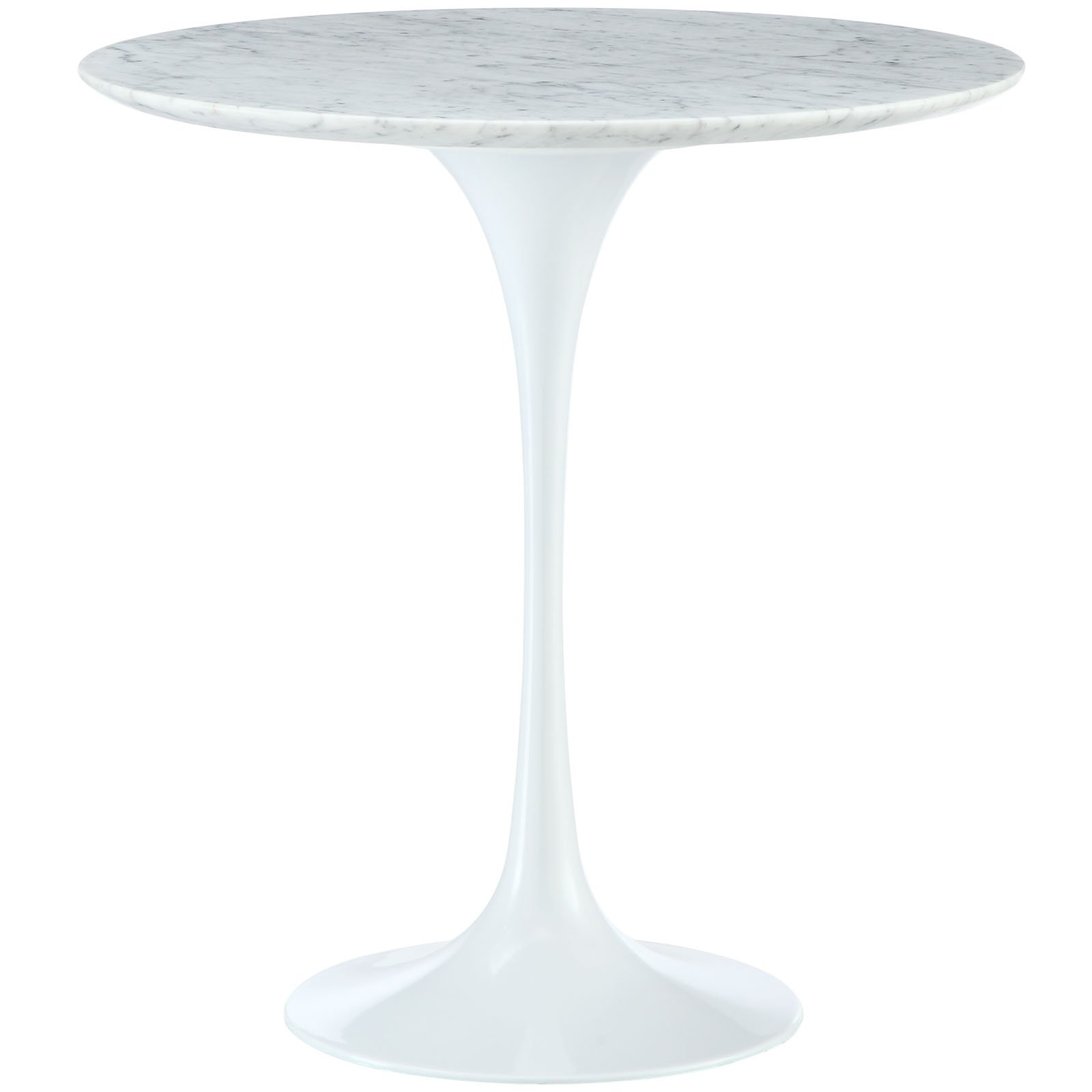 Modway Lippa 20'' White Marble Side Table