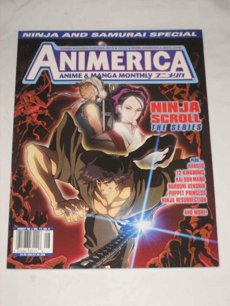 Animerica Anime & Manga Monthly Volume 11 #8 Aug 2003 Ninja ...