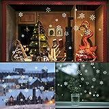 85 Snowflake Window Clings Christmas Window