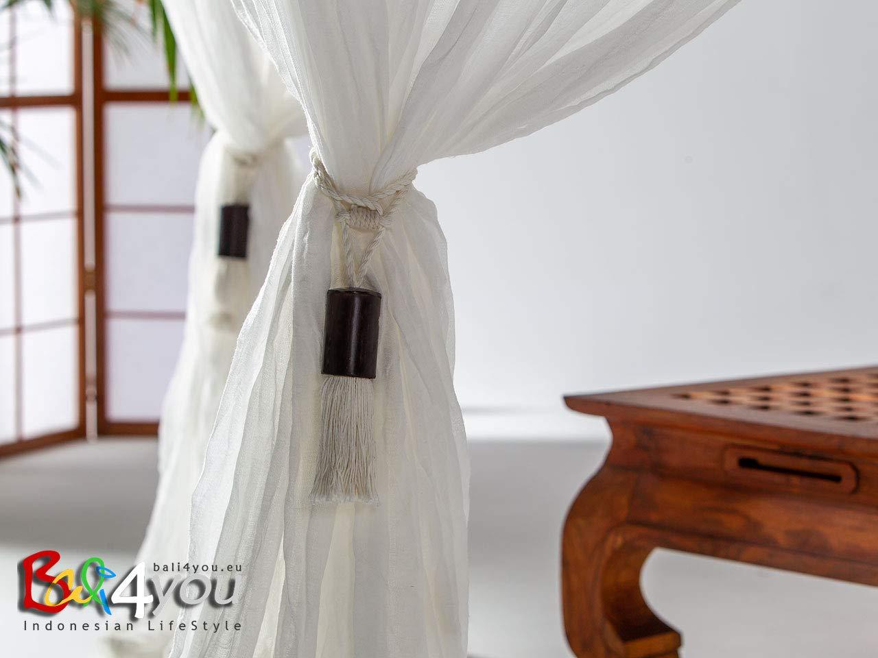 incl 78x78 4 tassles Bed Canopy Bali Baldachin Bed Canopy Scheherazade 200x200