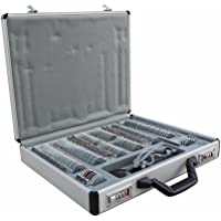 ECO-WORTHY158 pcs Optical Trial Lens Set Metal Rim Aluminium Case + Free Trial Frame