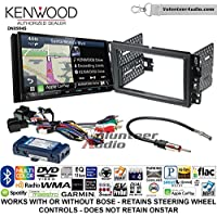 Volunteer Audio Kenwood Excelon DNX994S Double Din Radio Install Kit with GPS Navigation Apple CarPlay Android Auto Fits 2007-2013 Silverado, Avalanche (Retains steering wheel controls)